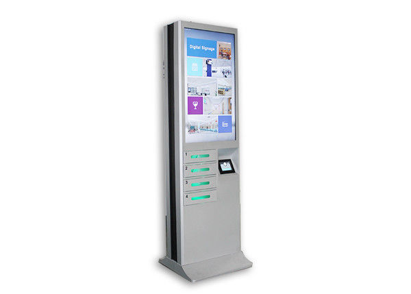 Chargeable Digital Signage Cell Phone Charging Lockers 43 Inch Big Lcd Screen